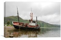 Abandoned fishing boat, Canvas Print