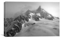 vallee Blanche, Chamonix mono, Canvas Print