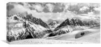 Mont Blanc mountain range, Canvas Print