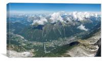 Above Chamonix town, Canvas Print