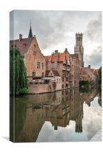 Reflections of Bruges, Canvas Print