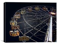 Ferris Wheel in the Night, Canvas Print