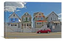 Painted Ladies of Somers Point, Canvas Print