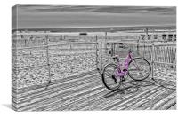 Pink Bicycle, Canvas Print