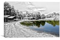 The Pond at Mount Nittany Vineyard, Canvas Print