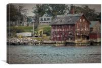 Gloucester Harbor Paint Manufactory, Canvas Print