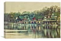 Boathouse Row, Canvas Print