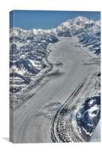 Denali & Glacier, Canvas Print
