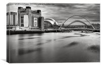 Tyne Bridges, Baltic and Sage, Canvas Print