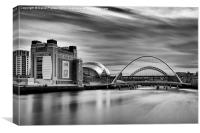 Tyne Bridges, Baltic & Sage, Canvas Print