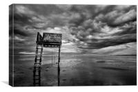 Holy Island, Pilgrims Way refuge, Canvas Print
