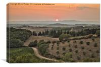 Tuscan Sunset, Canvas Print