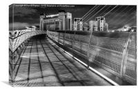 Gateshead Millennium Bridge and Baltic Centre, Canvas Print