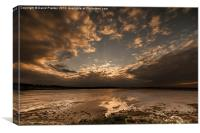 Sunset at Budle Bay, Canvas Print