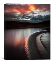 Sunset  Butterley Reservoir Marsden, Canvas Print