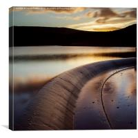 Butterley Reservoir Sunset Marsden, Canvas Print