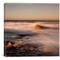 Evening Light at Bamburgh, Canvas Print