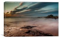 Sunrise at Bamburgh, Canvas Print