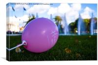 Pink Balloon, Cardiif, Canvas Print