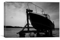 Llyn Fishing Boat, Canvas Print