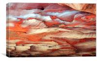 JT2007Colour in rocks, Petra, Jordan, Canvas Print