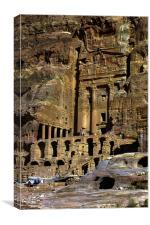 JST2972 The Urn tomb, Petra, Canvas Print