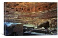JST2970 The Great Theatre, Petra, Canvas Print