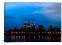 London New Banking District, Canvas Print