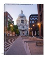 St Pauls Cathedral from Millenium Bridge, Canvas Print