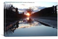 Puddle Lane Sunset, Canvas Print
