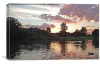 Verulamium Lake at Dusk, Canvas Print
