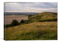 Evening at Ivinghoe Beacon , Canvas Print
