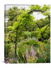 Chenies Manor Garden in the Frame , Canvas Print