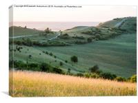 Ivinghoe Beacon View in September, Canvas Print