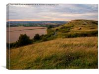 View to the Beacon from Steps Hill, Ivinghoe, Canvas Print