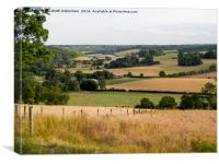Stonor Landscape, Oxfordshire, Canvas Print