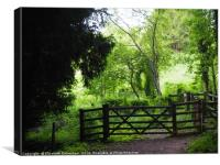 Gate to a Wildlife Haven, Canvas Print