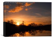 Sarratt Water Meadow at Sunset, Canvas Print
