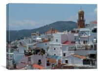 Overlooking the white village of Competa, Andaluci, Canvas Print