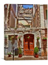 Derelict house in Lanjaron, Spain, Canvas Print