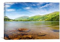 Summer at Grasmere Lake, Canvas Print