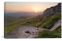 Stanage Sunset, Canvas Print