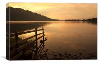 Bassenthwaite Lake Sunset, Canvas Print