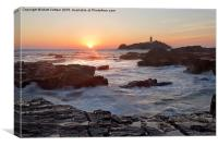 Godrevy Point Sunset, Canvas Print