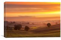 Dawn at Dorket Head, Canvas Print
