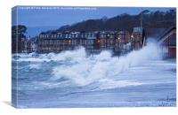 Stormy Day in Largs, Canvas Print