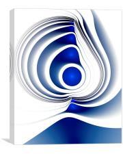 Blue Imprint, Canvas Print