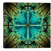 Aqua Shield, Canvas Print