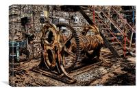 Haig Pit ,Old Mine shaft Workings, Canvas Print