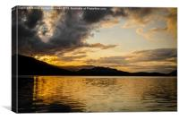 Golden Derwentwater, Canvas Print